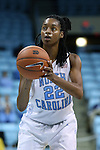 05 November 2014: North Carolina's N'Dea Bryant. The University of North Carolina Tar Heels hosted the Carson-Newman University Eagles at Carmichael Arena in Chapel Hill, North Carolina in an NCAA Women's Basketball exhibition game. UNC won the game 88-27.