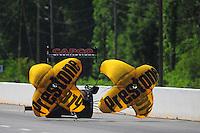 May 5, 2012; Commerce, GA, USA: NHRA top fuel dragster driver Steve Torrence during qualifying for the Southern Nationals at Atlanta Dragway. Mandatory Credit: Mark J. Rebilas-