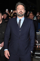 Ben Affleck at the &quot;Live by Night&quot; premiere at BFI South Bank, London, UK. <br /> 11th January  2017<br /> Picture: Steve Vas/Featureflash/SilverHub 0208 004 5359 sales@silverhubmedia.com