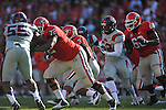 Ole Miss linebacker Mike Marry (52) vs. Georgia at Sanford Stadium in Athens, Ga. on Saturday, November 3, 2012.
