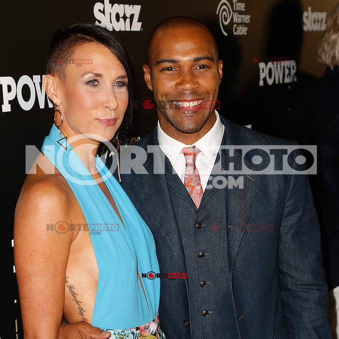 New York, NY -  June 2 : Actor Omari Hardwick and Guest attend the Power Premiere held at the Highline Ballroom on June 2, 2014 in New York City. Photo by Brent N. Clarke / Starlitepics