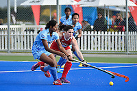 International Festival of Hockey -  The Hawke's Bay Cup U.S.A v India at Hastings Regional Sports Park, Hasting, New Zealand on Saturday 18 April 2015.<br /> Photo by Masanori Udagawa. <br /> www.photowellington.photoshelter.com.