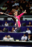 July 22, 1998; New York, NY, USA;  Artistic gymnast Yelena Produnova of Russia performs on floor exercise at 1998 Goodwill Games New York. Copyright 1998 Tom Theobald