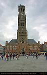 Belfort Bell Tower and Cloth Hall 1240, North Side, Market Square, Bruges, Brugge, Belgium