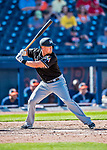 1 March 2017: Miami Marlins outfielder Tyler Moore in Spring Training action against the Houston Astros at the Ballpark of the Palm Beaches in West Palm Beach, Florida. The Marlins defeated the Astros 9-5 in Grapefruit League play. Mandatory Credit: Ed Wolfstein Photo *** RAW (NEF) Image File Available ***