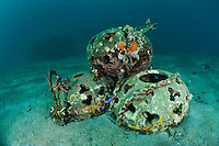 Reefballs were first developed in the US as a way to help the restoration of damaged coral reefs.  They are normally made from a ph balanced concrete material and have a rough surface to promote settling by corals, algae and sponges.  Reefballs are typically laid on a reef in large groups to create artificial reefs.  There has been some debate about the effectiveness of reef balls.