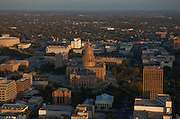Vertical side view of the Texas state capital building in Austin Texas. It is the largest state capital building in the United States.