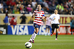 20 October 2012: Christie Rampone (USA). The United States Women's National Team played the Germany Women's National Team at Toyota Park in Bridgeview, Illinois in a women's international friendly soccer match. The game ended in a 1-1 tie.