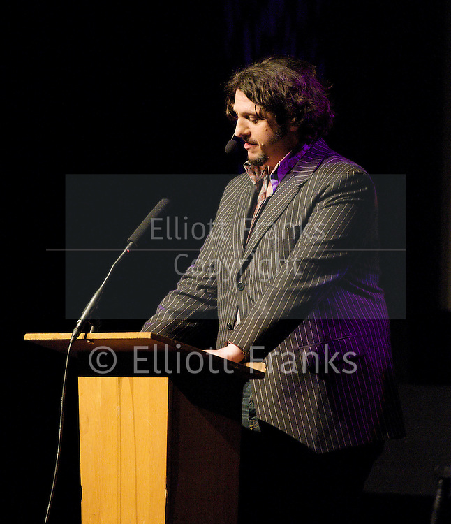 Sex Appeal - <br /> &quot;More sex please we're British!&quot; <br /> a Comedy fundraising event in aid of Brook at the Bloomsbury Theatre, London, Great Britain <br /> 13th January 2012<br /> <br /> Jay Rayner<br /> <br /> Photograph by Elliott Franks