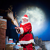 Raymond Briggs' Father Christmas <br /> by Pins and Needles<br /> at the Lyric Hammersmith Studio <br /> London, Great Britain <br /> press photocall<br /> 28th November 2013 <br /> <br /> Barry McCarthy as Father Christmas<br /> <br /> Claire Harvey as Puppeteer<br /> <br /> Jared Ashe<br /> as Musician <br /> <br /> Photograph by Elliott Franks