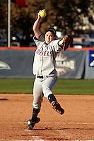 SAN ANTONIO, TX - MARCH 9, 2010: The Baylor University Lady Bears vs. the University of Texas at San Antonio Roadrunners Softball at Roadrunner Field. (Photo by Jeff Huehn)