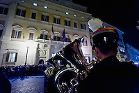 Roma 16 Novembre 2015<br /> In omaggio alle vittime delle stragi di Parigi di sabato scorso la banda interforze ha eseguito davanti alla Camera dei deputati gli inni di Francia, Italia e dell&rsquo;Unione europea. Alla cerimonia hanno assistito la presidente della Camera, Laura Boldrini, l&rsquo;ambasciatrice di Francia, Catherine Colonna e deputati di tutti gli schieramenti politici.<br /> Rome 16 November 2015<br /> In tribute to the victims of the massacres of Paris last Saturday, band interforce has performed in front the Chamber of Deputies, of anthems of France, Italy and the European Union. The ceremony was attended by the Speaker of the House, Laura Boldrini, the ambassador of France, Catherine Colonna and deputies from across the political spectrum.