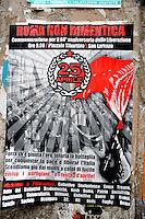 Roma 25 Aprile 2009.Manifesti  affissi nel Quartiere San Lorenzo che inneggiano alla Resistenza e alla Lotta di Liberazione contro il Fascismo .Rome April 24, 2009.Posters, in the San Lorenzo district in praise to the resistance and liberation struggle against Fascism