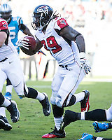 The Carolina Panthers defeated the Atlanta Falcons 34-10 in an inter-division rivalry played in Charlotte, NC at Bank of America Stadium.  Atlanta Falcons running back Steven Jackson (39).