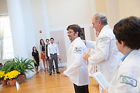 John Nesbitt, left, John Brumsted, M.D. Class of 2016 White Coat Ceremony.