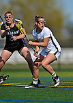 28 April 2012: University of Vermont Catamount midfielder Karli Mackendrick, a Sophomore from Whitby, Ontario, in action against the University at Albany Great Dames at Virtue Field in Burlington, Vermont. The Lady Danes defeated the Lady Cats 12-10 in America East Women's Lacrosse. Mandatory Credit: Ed Wolfstein Photo