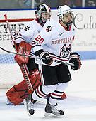 (Rawlings) Luke Eibler (Northeastern - 20) - The Northeastern University Huskies defeated the visiting Boston College Eagles 2-1 on Saturday, February 19, 2011, at Matthews Arena in Boston, Massachusetts.