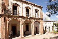Building  in the 19th century mining town of Mineral de Pozos, Guanajuato, Mexico.