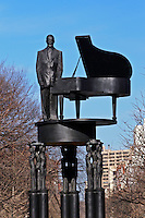 New York, New York City, Duke Ellington Memorial, Sculpture Robert Graham, 110 st and 5th Avene