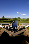 Lock gate on river Ure,Boroughbridge, North Yorkshire, England.