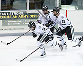 Derek Army (PC - 19), Kyle Murphy (PC - 16), Steven Shamanski (PC - 28) - The Providence College Friars tied the visiting Boston College Eagles 3-3 on Friday, December 7, 2012, at Schneider Arena in Providence, Rhode Island.