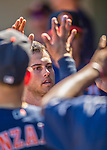 4 March 2016: Houston Astros outfielder Preston Tucker returns to the dugout after hitting a solo home run during a Spring Training pre-season game against the St. Louis Cardinals at Osceola County Stadium in Kissimmee, Florida. The Astros defeated the Cardinals 6-3 in Grapefruit League play. Mandatory Credit: Ed Wolfstein Photo *** RAW (NEF) Image File Available ***