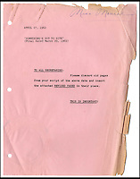 BNPS.co.uk (01202 558833)<br /> Pic: NateDSanders/BNPS<br /> <br /> The poignant last script Marilyn Monroe worked on for a movie that had to be abandoned following her untimely death has emerged for sale.<br /> <br /> The 149-page screenplay of her final, unfinished film Something's Got to Give (1962) is covered in pencil and green ink notes from her which provide a fascinating insight into how she viewed her character.<br /> <br /> In one of the scenes, she told herself to think of her former husband Arthur Miller's children to help her get an emotional connection with her <br /> on-screen children.<br /> <br /> The script, which belongs to a private collector, is tipped to sell for &pound;18,000 when it goes under the hammer at Nate D Sanders on February 24.