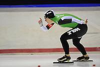 SCHAATSEN: HEERENVEEN: 05-10-2013, IJsstadion Thialf, Trainingwedstrijd, 1000m, Ireen Wüst (1.17,97), ©foto Martin de Jong