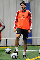 DC United Dejan Jakovic at the first official training session of the 2011 MLS season.  At Greenbelt Sportsplex, Friday January 28, 2011.