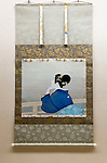 "Photo shows ""Woman waiting for the moon to rise"" by Shoen Uemura at the Adachi Museum of Art in Yasugi, Shimane Prefecture, Japan..Photographer: Robert Gilhooly"