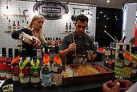 NEW YORK, NY JUNE 27: participants prepare cocktails as they attend the Annual Summer Fancy Food Show at the Javits Center in Manhattan on June 27, 2016 in New York City. (Photo by VIEWpress)