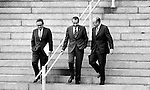 37th President of the United States Richard M. Nixon with Henry Kissinger and Mel Laird, Richard Nixon was born in Yorba Linda California and attended Whittier College and Duke University law school, US Navy House of Representatives and United States Senate, Vice President under Dwight D. Eisenhower, Impeachment for his role in Watergate scandal,