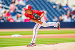 28 February 2017: Washington Nationals pitcher Jeremy Guthrie on the mound during the Spring Training inaugural game against the Houston Astros at the Ballpark of the Palm Beaches in West Palm Beach, Florida. The Nationals defeated the Astros 4-3 in Grapefruit League play. Mandatory Credit: Ed Wolfstein Photo *** RAW (NEF) Image File Available ***