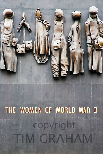 The Women of World War II memorial in Whitehall, London, United Kingdom