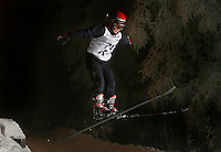 Edward Syse (10) ski jumping in Schr&oslash;derbakken, near the center of Oslo.