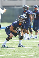 Virginia center Luke Bowanko during open spring practice for the Virginia Cavaliers football team August 7, 2009 at the University of Virginia in Charlottesville, VA. Photo/Andrew Shurtleff