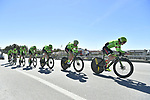 Cannondale-Drapac team practice before the 1st stage of the race of the two seas, 52nd Tirreno-Adriatico by NamedSport a 22.7km Team Time Trial at Lido di Camaiore, Italy. 8th March 2017.<br /> Picture: La Presse/Fabio Ferrari | Cyclefile<br /> <br /> <br /> All photos usage must carry mandatory copyright credit (&copy; Cyclefile | La Presse)