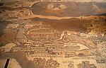 Jordan, the 6th Century Byzantine mosaic Madaba Map of the Holy Land&amp;#xA;<br />