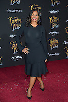 Audra McDonald at the premiere for Disney's &quot;Beauty and the Beast&quot; at El Capitan Theatre, Hollywood. Los Angeles, USA 02 March  2017<br /> Picture: Paul Smith/Featureflash/SilverHub 0208 004 5359 sales@silverhubmedia.com