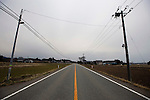 The roads are deserted in Minami-Soma, Fukushima Prefecture, Japan on 30 March, 2011.  Photographer: Robert Gilhooly