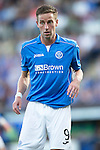 St Johnstone v FC Luzern...24.07.14  Europa League 2nd Round Qualifier<br /> Steven MacLean<br /> Picture by Graeme Hart.<br /> Copyright Perthshire Picture Agency<br /> Tel: 01738 623350  Mobile: 07990 594431