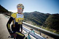 Kevin De Weert (BEL/LottoJumbo)<br /> <br /> Team Lotto Jumbo winter training camp<br /> Moj&aacute;car, Spain, January 2015