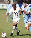13 November 2005: . Duke University defeated the University of North Carolina 5-4 in penalty kicks following a 0-0 draw at SAS Stadium in Cary, North Carolina in the final of the 2005 ACC Men's Soccer Championship.