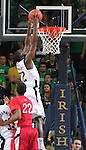 Guard Jerian Grant (22) goes up for a dunk late in the first half.