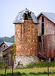 LaCrosse County- Barn and Stone silo. County Road C and County Road T.