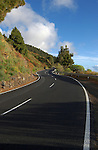 Winding road to Fuencaliente, La Palma, Canary Islands,