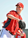 19 February 2011: Washington Nationals' pitcher Tom Gorzelanny tosses on the mound during Spring Training at the Carl Barger Baseball Complex in Viera, Florida. Mandatory Credit: Ed Wolfstein Photo