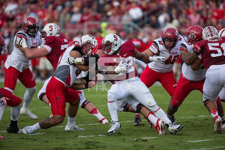 Stanford, California - November 15, 2014: Stanford Football vs Utah.