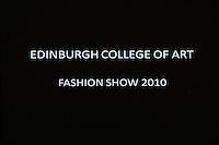 05/05/2010 Edinburgh College of Art fashion show