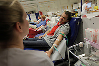 (Oslo July 22, 2011) Stian Kanestr&oslash;m donates blood at Ullev&aring;l hospital. <br />